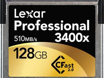 Rent: 2-Pack Lexar Pro 3400x CFast 2.0 128GB 510MB/s