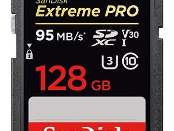 Rent: 2 X SanDisk Extreme Pro 128GB SDXC UHS-I Card