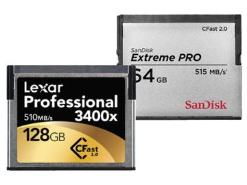 Rent: 4-Pack CFast 2.0 Media, 2x 128GB + 2x 64GB