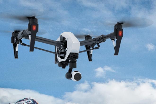 4K DJI Inspire drone w/ Wireless Monitor, Pilot