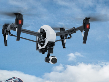 Rent: 4K DJI Inspire drone w/ Wireless Monitor, Pilot