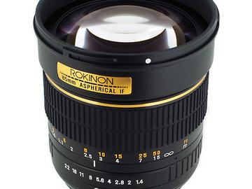 Rent: Rokinon 85mm f/1.4