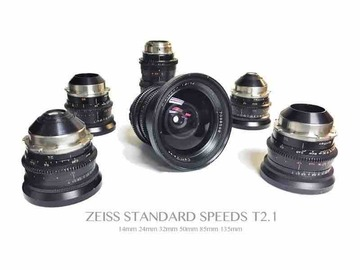 Rent: 6 lens Zeiss Standard Speed T2.1 set (Coated)