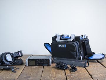 Rent: Zoom F4 Multitrack Field Recorder w TC, 6 Input & Headphones