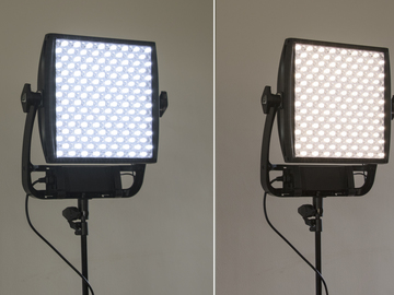 Rent: Set of TWO Astra 1X1 Bi Color LED Panels w/ Stands