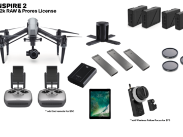 INSPIRE 2 with X5S (Raw & ProRes License) + Accessories