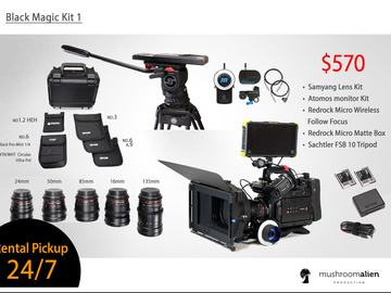 Rent: Blackmagic Ursa mini 4.6k Full Kit