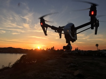 Rent: Drone/DJI Inspire 1 with pilot