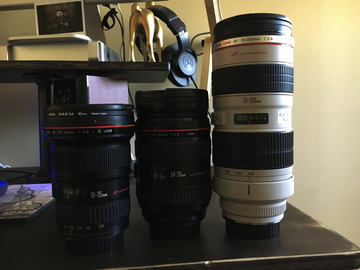 Rent: Canon L Series f/2.8 Kit 16-35, 24-70, 70-200.