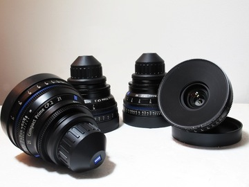 Rent: Set of 4 Zeiss CP2 Lenses Package with Wireless Follow Focus