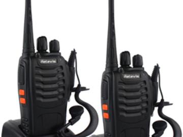 Rent: 10 Pack Retevis H777 Walkie Talkie 16CH UHF 5W Complete