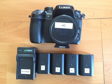 Rent: GH4 with Vlog + EF to M43 Speedbooster, 4 batteries