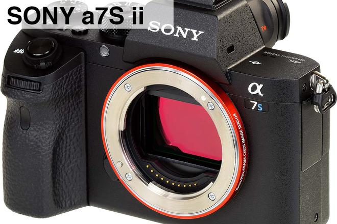 Sony a7S ii 4K w/Metabones EF-E, Batt Grip & Card Package P1