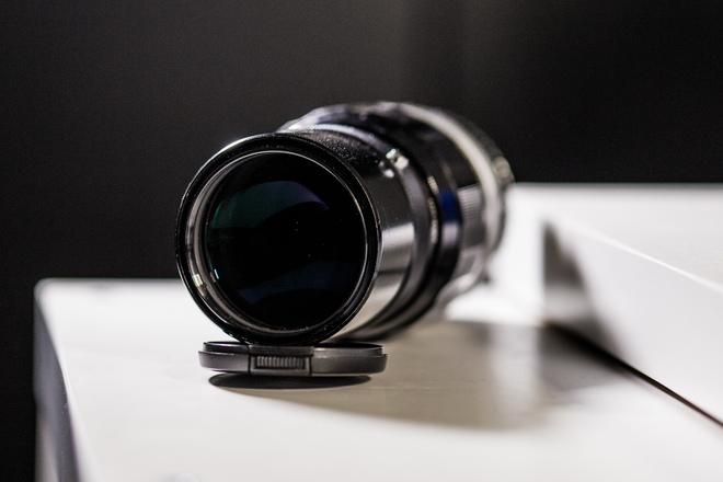 Nikon 200mm F/4 QC-Auto w/ Canon EF Lens Mount Adapter
