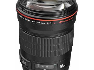 Rent: Canon EF 135mm f/2L USM Lens