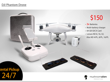 Rent: DJI Phantom 4 Drone Kit