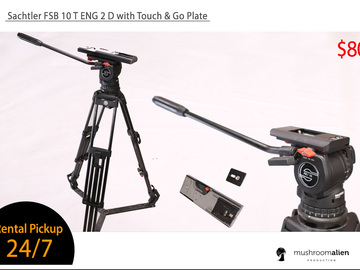 Rent: Sachtler FSB 10T Tripod System with Touch & Go Plate (100mm)