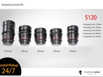Rent: Samyang (Rokinon) Lens Kit
