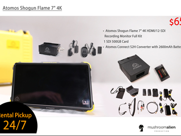 "Rent: Atomos Shogun Flame 7"" Monitor / 4K Kit"