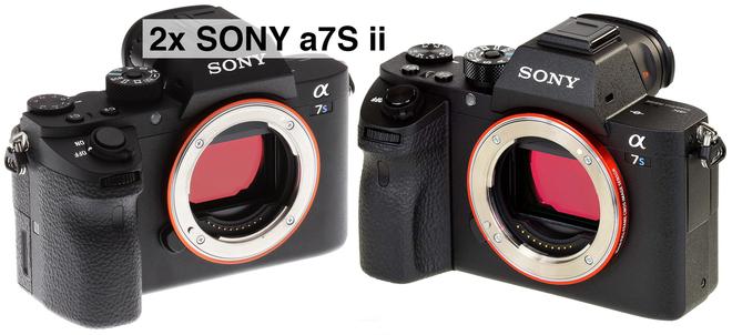 2x Sony a7S ii (4K) w/Metabones, Card & Battery Package