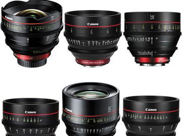 Rent: Canon CN-E 6-Prime Lens Kit EF (14, 24, 35, 50, 85, 135)