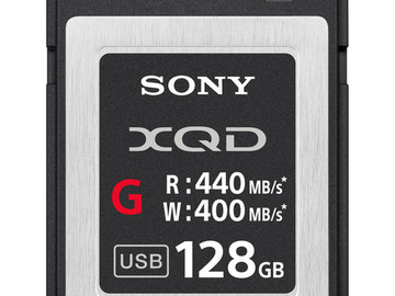 Rent:  XQD (Sony) (1) 128 GB G card (X8 Available)
