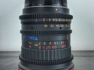 Rent: 11-16mm T3 Tokina Cinema EF-mount