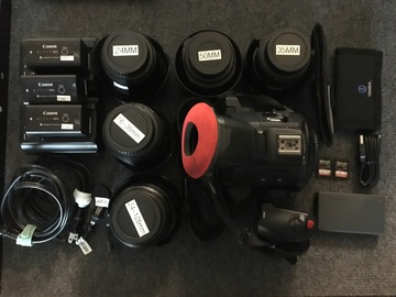Rent: Canon C100 Mark 2 With L Series lenses 24-105,16-35,24,35,50