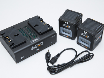 Rent: (2) Anton Bauer GM Cine 150 Batteries & Dual Charger