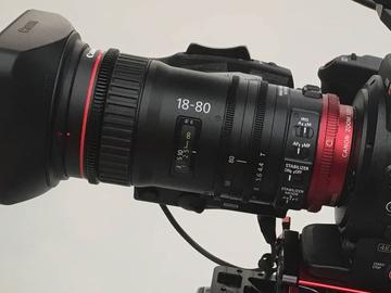 Canon CN-E 18-80mm T4.4 COMPACT-SERVO Cinema Zoom Lens (EF)