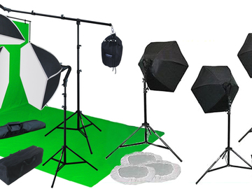 Rent: Portable green screen lighting kit