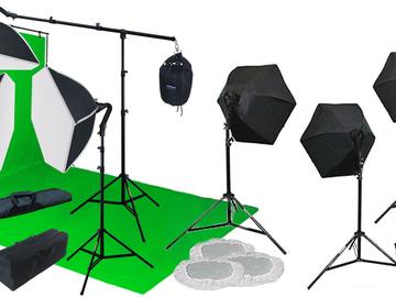 Rent: Portable green screen lighting kit