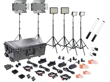 Rent: Complete bi-color LED field lighting kit