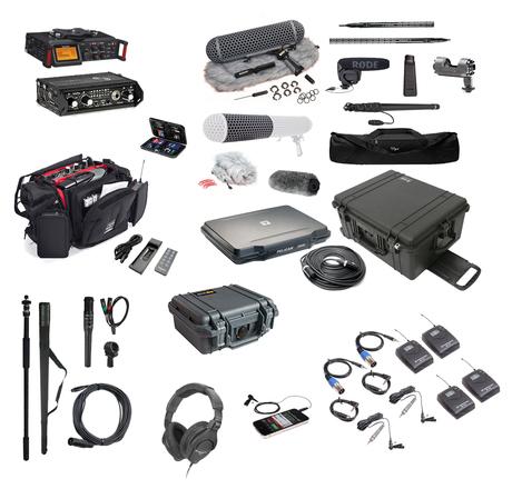 Production sound kit w/ camera, shotgun and wireless mics