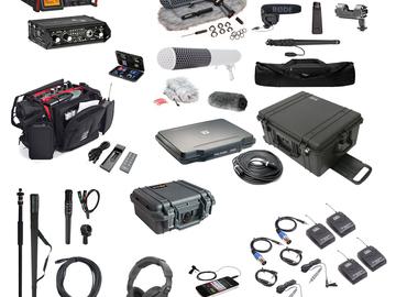 Rent: Production sound kit w/ camera, shotgun and wireless mics