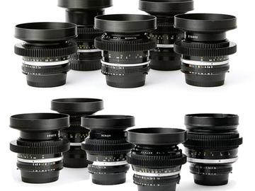 Rent: Nikon cine-mod EF mount legacy prime lens kit (f1.2-3.5)