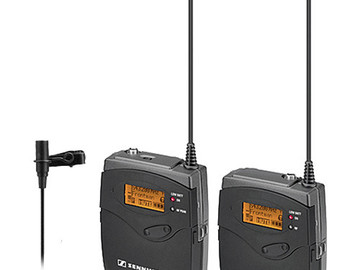 Rent: Sennheiser G3 Wireless Transmitter and Receiver Lavalier Mic