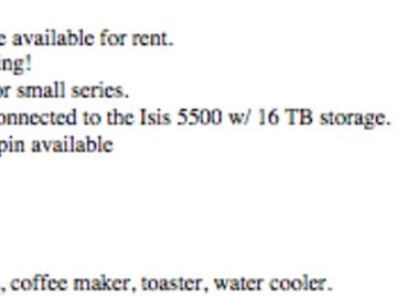 Rent: Avid & Office Rental