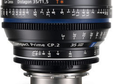 Rent: Zeiss CP.2 Compact Prime Super Speed 35mm T1.5 - PL or EF