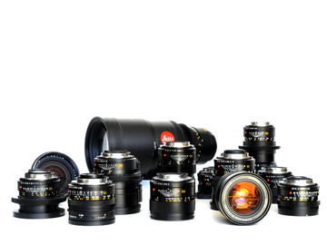 "Rent: LEICA SUMMILUX super speed set in ""R"" Mount + 19mm (4) lens"