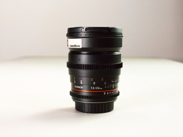 Rent: Rokinon 24mm EF Prime Lens