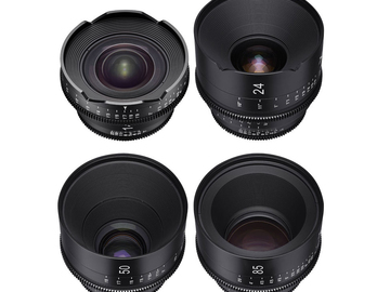 Rent: Xeen EF Cinema Lens set of 4 (14,24,50,85) W/Matte Box