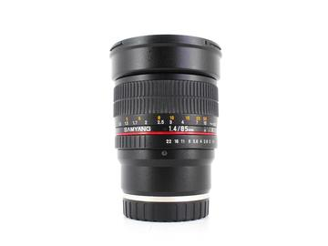 Rent: Samyang 85mm f/1.4 ASPH IF, E Mount