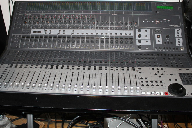 Control 24 mixing console with Mogami cables up to 10HD comp