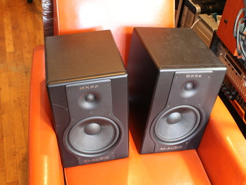 Rent: M-Audio BX8a Deluxe monitor pr w/ Monster cables