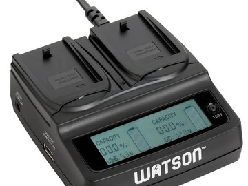 Rent: Dual Charger for Sony NP-FW50