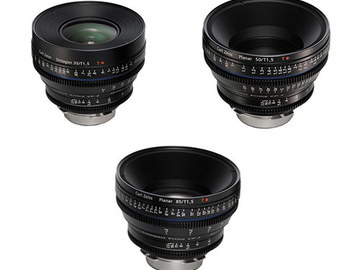 Rent: Zeiss CP.2 EF 3x Lens Set