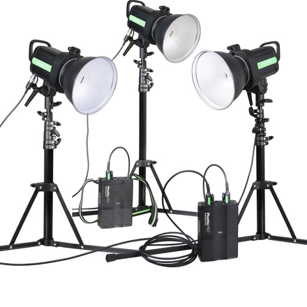 Portable Lighting Kit Phottix Indra  (3 Strobe/bat/trigger)