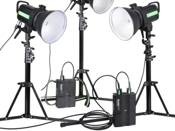 Rent: Portable Lighting Kit Phottix Indra  (3 Strobe/bat/trigger)