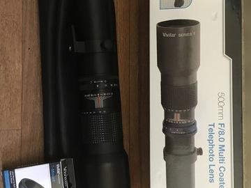 500mm telephoto HD lens w/ T-mount